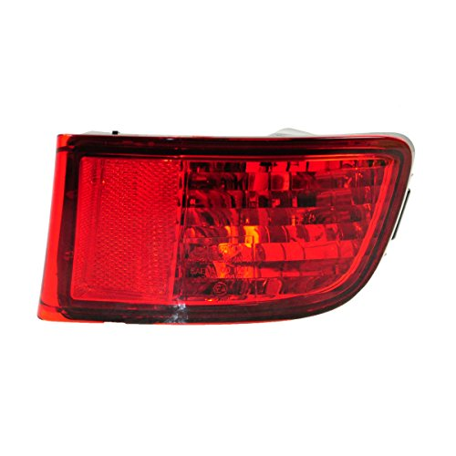 Rear Bumper Red Reflector Right Light Passenger Side for 03-05 Toyota 4Runner