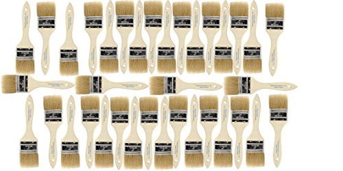 Varnish Paint Brush (Pro-Perfect Supplies 36 Pack of Single X Thick 2 inch wide Paint and Chip Paint Brushes for Paint, Stains, Varnishes, Glues, Acrylics and Gesso. 1-1/2