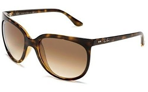 Ray-Ban Cats 1000 4126 Sunglasses Light Havana / Brown Gradient (710/51) 57mm & HDO Cleaning Carekit - Cats Rayban 1000
