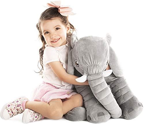 Uncle Kal Exclusivo Elefante de Peluche Gigante 63.5 cm | Diseñado en Suecia | Satisfacción Garantizada | Juguetes para...