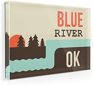 Imán para nevera Estados Unidos ríos azul Río - Oklahoma ...