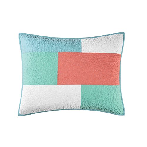 C&F Home Folly Beach, Standard Sham, Seafoam
