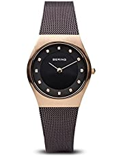 BERING Damen-Armbanduhr Analog Quarz Edelstahl 11927-262