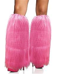 Pink Furry Leg Warmers