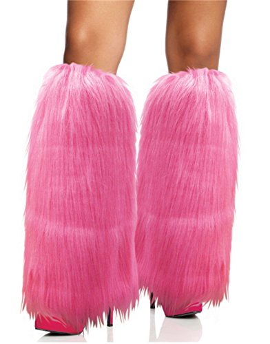 Rhode Island Novelty Pink Furry Leg Warmers