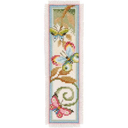 Vervaco Deco Butterflies Bookmarks On Aida Counted Cross Stitch Kit-2