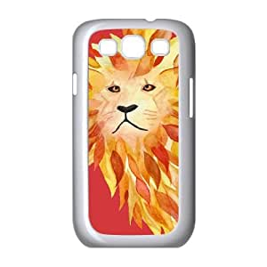 Samsung Galaxy S3 9300 Cell Phone Case White FIRE LION W4E2BB