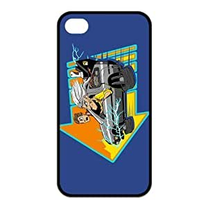 Back to the Future Hard Black Cover Case for Apple Iphone 4 and Iphone 4S 2014Iphone4/4SCase-703