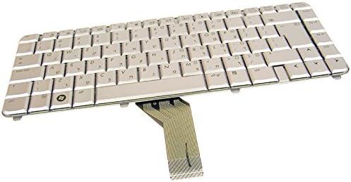 HP AEQT6V00110 Hebrew Silver Laptop Keyboard 492428-001