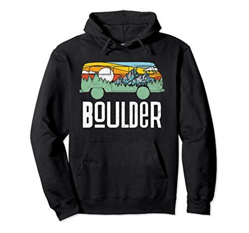 Retro Boulder Colorado Outdoor Hippie Van Graphic Hoodie
