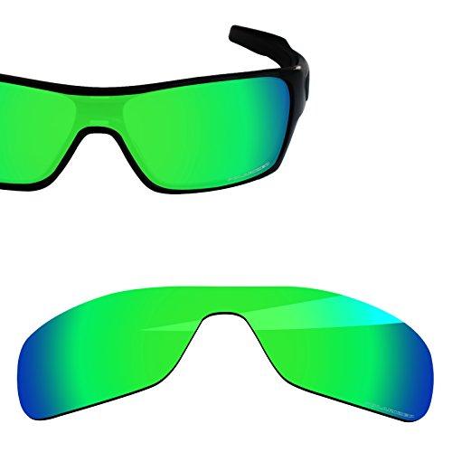 BlazerBuck Anti-salt Polarized Replacement Lenses for Oakley Turbine Rotor OO9307 - Emerald ()