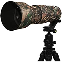 Mekingstudio Nikon 200-500mm F5.6 VR Rubber Camera Lens cover Protective Camo Cover - Forest Green Camo