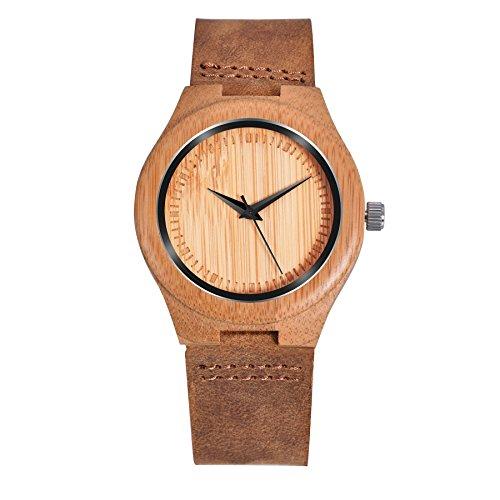ZHHA Women's Natural Bamboo Wood Watch G - 02 Handmade Wood Shopping Results