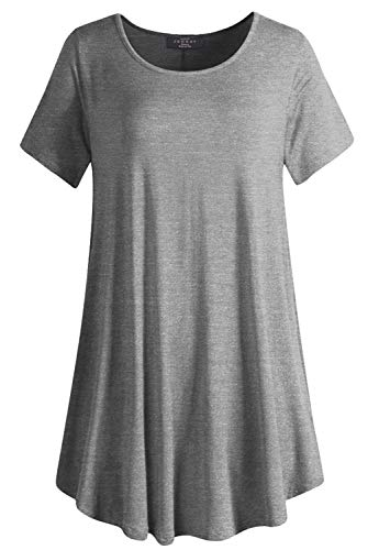 LL WT2102Women's Tunic Top Casual T Shirt for Leggings S-5XL Plus Size Made in USA XL HDG