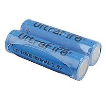 UltraFire LC 14500 3.6V 900mAh Rechargeable Li-ion Batteries (2-Pack, Blue)