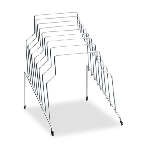 Step File, Eight Sections, Wire, 10 1/8 x 12 1/8 x 11 7/8, Silver, Sold as 1 Each