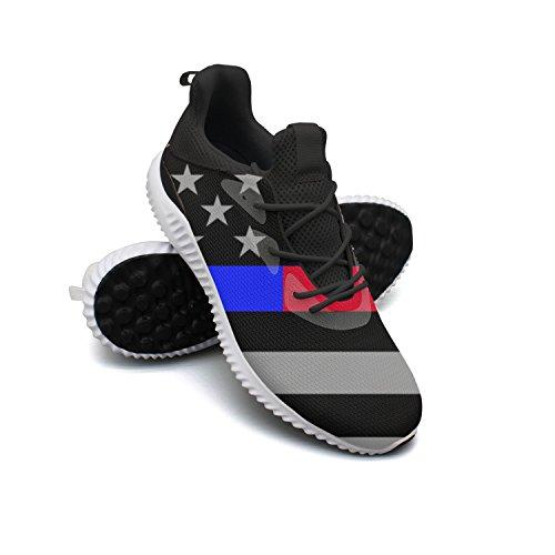 Scarpe Da Passeggio Traspiranti Leggere Sneaker Leggere Della Linea Americana E Linea Blu Da Uomo