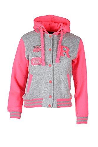 CELEB LOOK L87 Celebmodelook ® New Girls Kids Unisex Boys Baseball R Varsity Hooded Jacket TOP