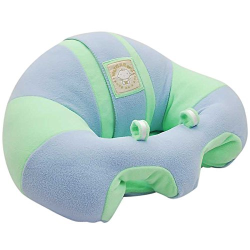 Image of the Hugaboo Infant Sitting Chair, Snuggle Buns/Blue/Green, 3-11 Months