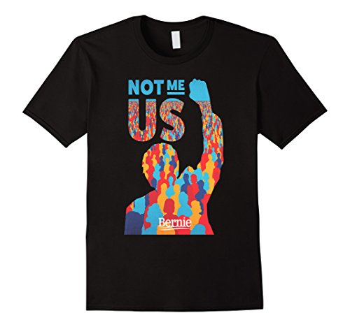 Mens Bernie Sanders T Shirt   Not Me Us President Large Black