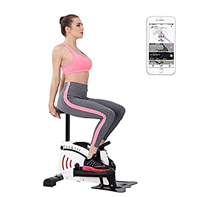 fitbill Smart Treadmill with App - Compact Walking Machine, Elliptical Trainer, Module f.Step