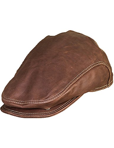 Allen Leather IVY Cap, Camel, Size Medium (7-7 1/8)