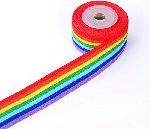 10 metros 2 rollos para manualidades Cinta de grogr/én de 25 mm de ancho Sunnysam