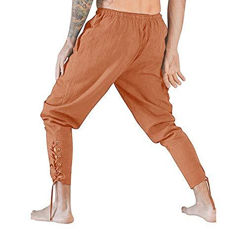 Multitasche Marrone Uomo Vita Feixiang Jeans Lungo Pantaloni Alta Pantalone Lavoro Tuta Fzqwq4xB