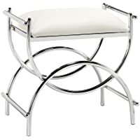 Curve Chrome Vanity Bench, 19.5Hx20.5W, PLTD STL CHROME