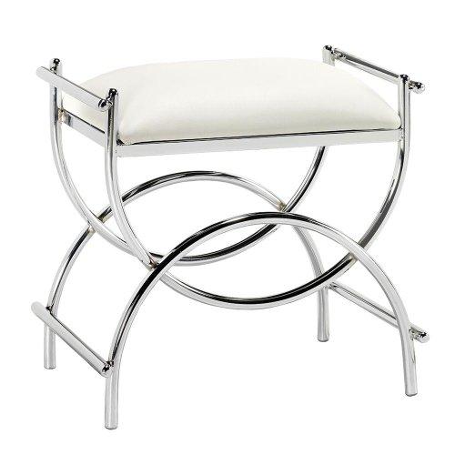 bathroom vanity chair or stool. Curve Chrome Vanity Bench  19 5 Hx20 W PLTD STL CHROME Bathroom Stools Amazon com