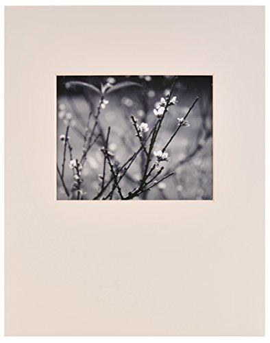 Nielsen Bainbridge Artcare Antique White 16x20 Pre-Cut Museum Quality Archival Picture Mat for 8x10 Photo, Landscape Opening