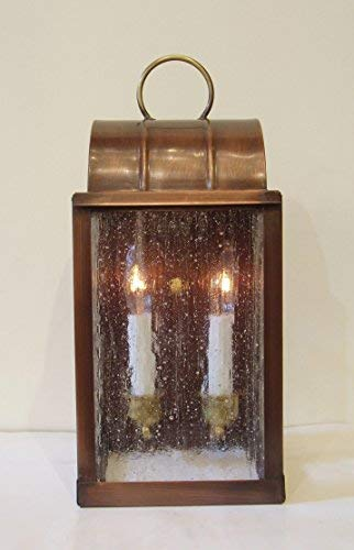 Hutton Metalcrafts, Inc. Solid Copper Wall Lantern, Sconce, Made in USA. Smaller 1860