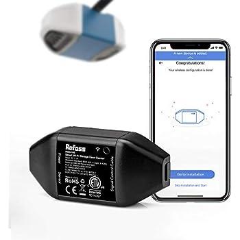 Refoss Smart Wi-Fi Garage Door Opener, No Hub Needed, APP Control, Compatible with Alexa, Google Assistant (Black)