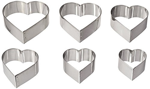 Ateco Graduated Heart Cookie Cutters, Set of ()