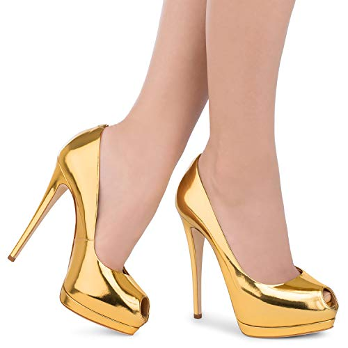 Dames Toe Stiletto 7 Taille Dress Hauts couleur 7 Slingback Peep Party 5 Sandals Huijie Pumps Femmes Silver Or Talons Sun w0BzqxZ
