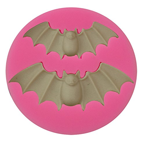 Mr.S Shop DIY Tools about Halloween Large&Small two Bats Cartoon Animals Liquid Silicone Cake Mold Pastry Mould -