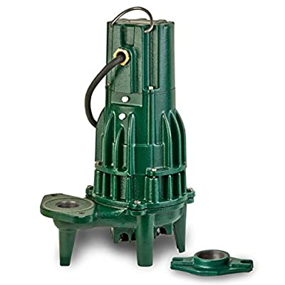 Zoeller 284-0004 230-Volt 1 Horse Power Model E284 Waste-Mate Non-Automatic Cast Iron Single Phase Submersible Sewage/Effluent Pump