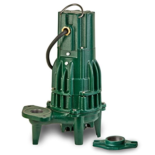 Waste Mate Submersible Pump - Zoeller 284-0004 230-Volt 1 Horse Power Model E284 Waste-Mate Non-Automatic Cast Iron Single Phase Submersible Sewage/Effluent Pump