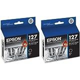Epson DURABrite 2-Pack T127120 Ultra 127 Black Extra High-capacity Inkjet Cartridge