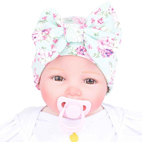 [Big promotion ! Teresamoon Hat Newborn Hospital Hat Newborn Baby Hats With Flower Bowknot Flower Hat] (Cute Unique Costumes)