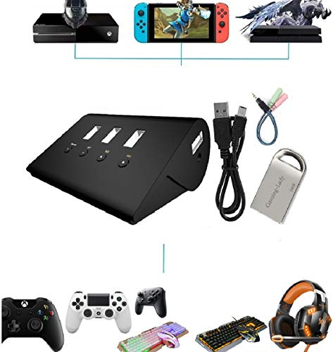 PS4 Keyboard and Mouse Adapter for xbox PS3 X1 Switch Playstation 4 Pro  Xbox one,Joypad Joystick Converter Headset Adaptor Plug and Play 16GB Flash