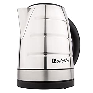 Odette Premium Stainless Steel Fast Boil 7 Cup (1.7 Liter) Electric Kettle with Auto Shut Off and Boil Dry Protection