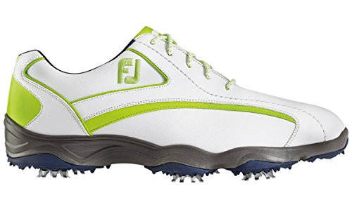 Closeout Athletic Shoes (FootJoy Superlites Golf Shoes CLOSEOUT White/Navy/Lime Medium)