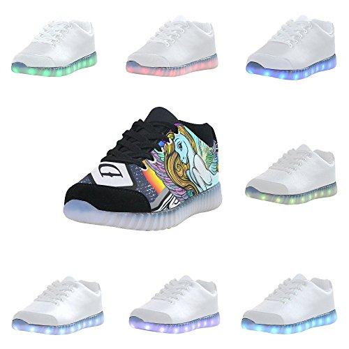 D-story Gevleugelde Oogmode Sneakers Oplichten Damesschoenen Multicoloured53