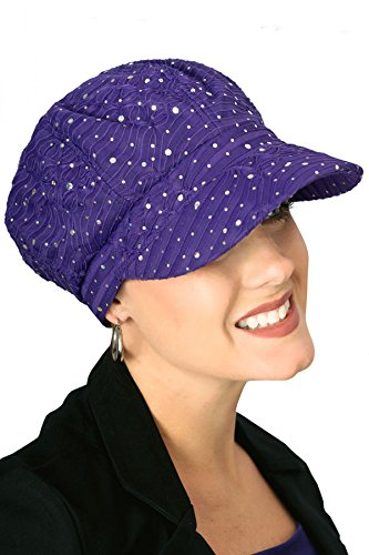 Headcovers Unlimited Sparkle Newsboy Hat | Sequin Newsboy Caps for Women | Cancer Patients, Chemo Hats Lime Green (Sparkle Newsboy Cap)