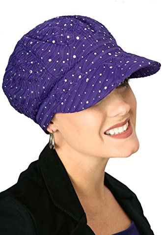677e56ad Headcovers Unlimited Sparkle newsboy Hat | Sequin newsboy Caps For Women |  Cancer Patients, Chemo