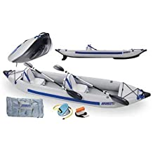 Sea Eagle Fast Track 2-Person Inflatable Kayak Deluxe Package (385-Feet 12-Feet 6-Inch) by Sea Eagle Boats Inc