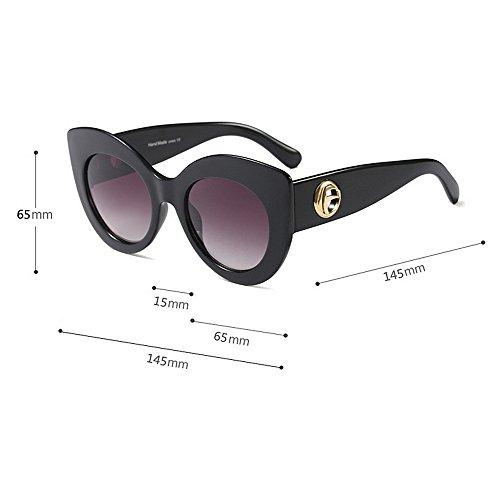 Animal de Vacaciones Playa Protección Sol Verano Conducción Gafas Gu Ojos Matching de UV Ojos Grandes Color Color Caqui para Print Mujeres Classic de Peggy para de Gato la R416HnwqqP