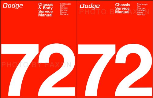 Complete Body & Chassis Shop - Service Manual for 1972 Dodge Dart - Demon - Challenger - Charger - Coronet - Monaco - Polara