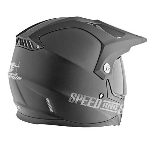 Speed and Strength Hell N' Back Full Face SS2500 Motorcycle Helmet (Matte Black, Large)
